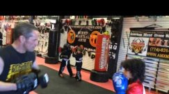 Nassim Young Dragon Boxing mitts @ Hamid's Academy  4/19/2014