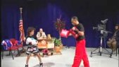 NASSIM'S KICKBOXING MITTS DEMO on The After 5 Family TV Show 10/30/13