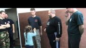 Mikhail Ryabko explains a Systema sensitivity exercise. Russian Martial Art Systema