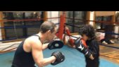 Nassim Young Dragon 1st Boxing Lesson with Steve D @ Cappiello Boxing Gym 2/17/14